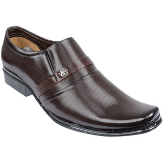 Oora MenS Brown Faux Leather Formal Shoes - 9 Uk
