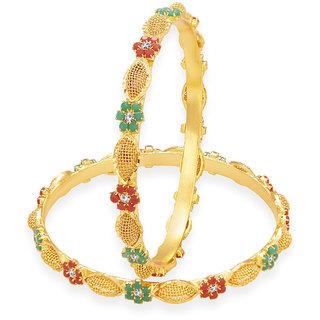 Sukkhi Splendid Gold Plated AD Bangle For Women
