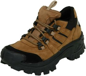 Afrojack Mens Tan Lace-up Boots