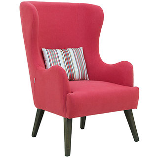 Cecelia Wing Chair in Red Colour