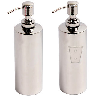 yashika home wall mounting stainless steel liquid soap dispenser in round royal design