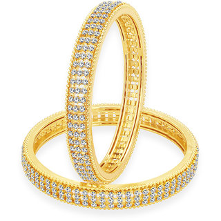 Sukkhi Enchanting Gold Plated AD Bangle For Women