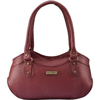 Fostelo WomenS Paige Shoulder Bag Maroon