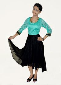 Stitched Designer Ladies Western Style Kurti-Pink Button