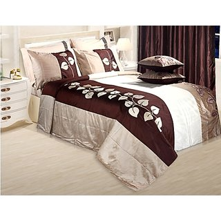 Adah Leaf Applique Natural Duvet Set