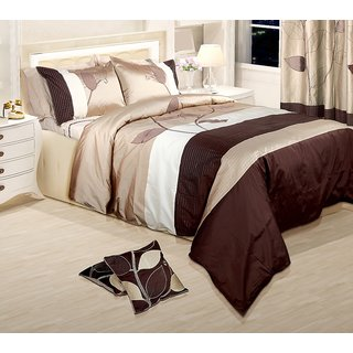 Adah Leaf Trail Natural Duvet Set