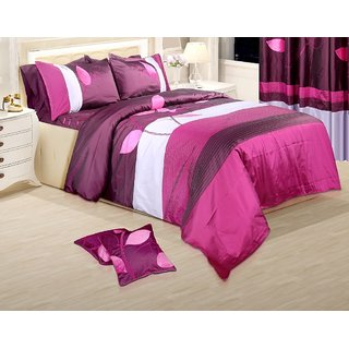 Adah Leaf Trail Plum Duvet Set