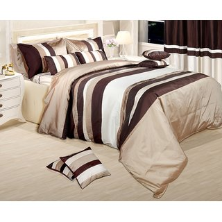 Adah Lurex Pleat Natural Duvet Set