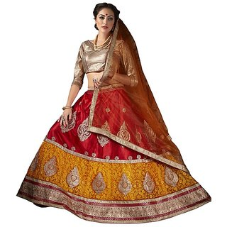 Manvaa Womens Multi Colour Lehenga Choli With Dupatta