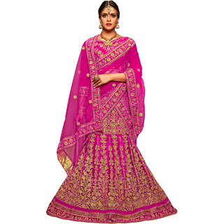 Manvaa Women Net Lehenga Choli(PinkASMMTZ7007AFree Size)