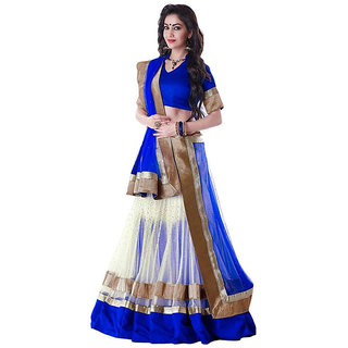 Manvaa BLUE Colour NET lehenga