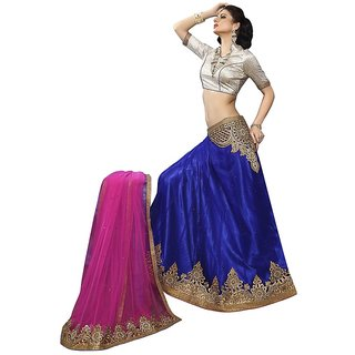 Manvaa Womens Beige Colour Lehenga Choli With Dupatta