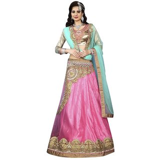 Manvaa Womens Blue Colour Lehenga Choli With Dupatta