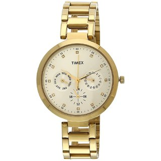 Timex TW000X208 Fashion Analog Gold Dial Women's Watch (TW000X208)