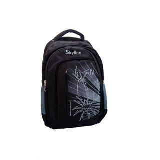 Skyline Unisex Laptop Backpack Bag- With Warranty- 058-Black