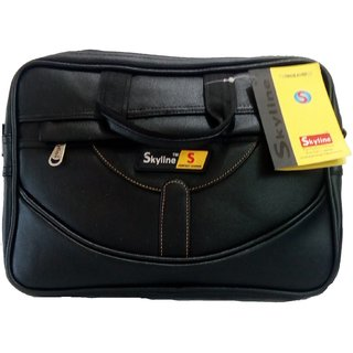 Skyline Black Polyester Laptop Bags (Below 13 inches)