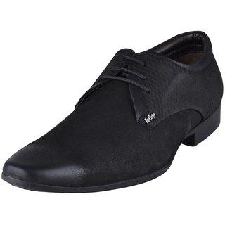 Lee Cooper Mens 1566 Black Formal Shoes