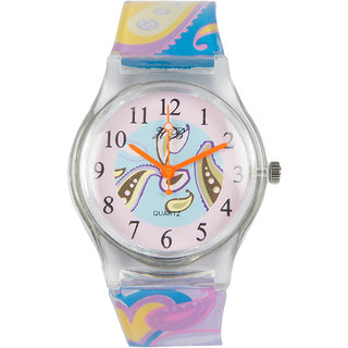 Multi Silicone Strap Round Dial Quartz Watch For Kids By Stoln
