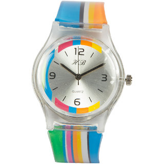 Round Dial Multi Silicone Strap Quartz Watch  By Stoln