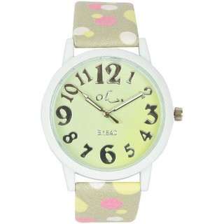 Multi Silicone Strap Round Dial Analog Watch For Unisex By Stoln.
