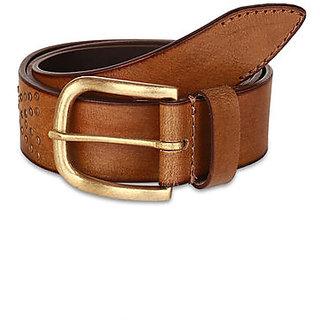 Pardigm Men's Leather Belt (Brown)