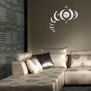 DIY Wall Clock 3D Sticker Home Office Decor 3D Wall Clock - 0459S