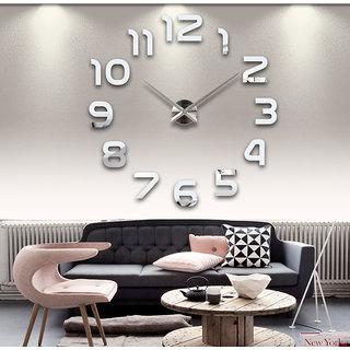 DIY Large Wall Clock 3D Sticker Home Office Decor 3D Wall Clock - AL002S