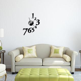 DIY Wall Clock 3D Sticker Home Office Decor 3D Wall Clock - 1547B