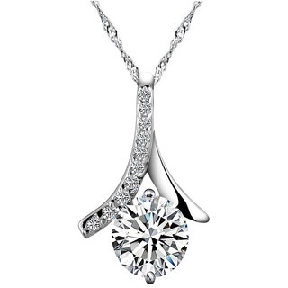 Shining Diva Non Plated Silver PendantChains For Women-CFJ7891np
