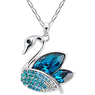 Shining Diva Non Plated Blue PendantChains For Women-CFJ7896np