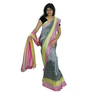 Uppada Silk Grey Saree