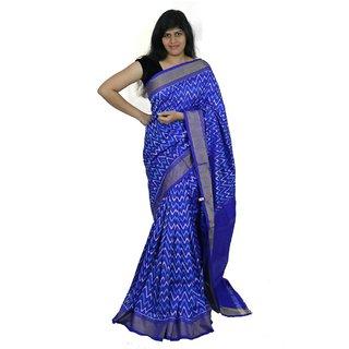 Pochampally Ikkath Blue Waves Saree