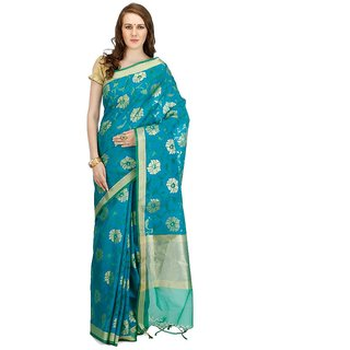 c0b518fd1594d2 Buy Banarasi Silk Works Party Wear Designer Peacock Colour Saree For Womens  Online - Get 66% Off