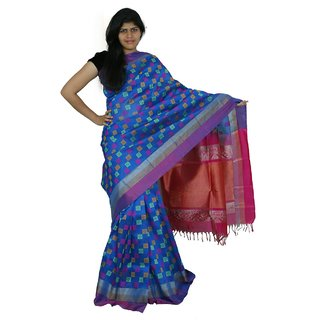 Kuppadam Silk Blue Saree