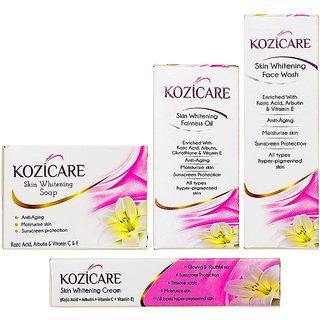 KozicareKozic Acid Skin Whitening Kit( Set Of Kozicare Facewash, kozicare Soap, Kozicare Cream, Kozicare Oil)
