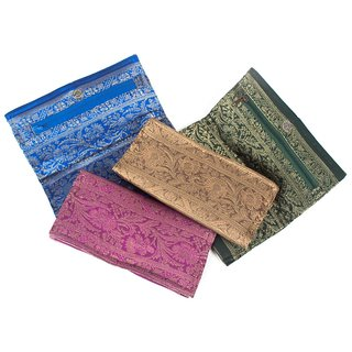 Zari Fabric Clutch Purse Small