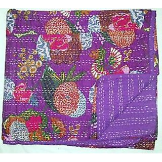 vintage sari fabric kantha quilts,Handmade vintage Quilts