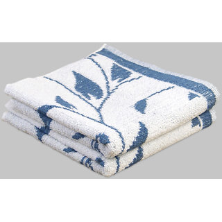 Yellow Spun Blue Jacquard Julia Guest Hand Towels