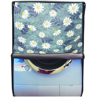 Glassiano Printed Waterproof  Dustproof Washing Machine Cover For Front Loading Haier HW55-1010 5.5 kg