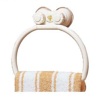 Towel Hanger (Plastic)- Dual Suction Mechanism