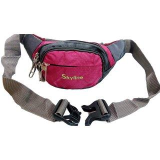Skyline Unisex Pink Waist Pouch-With Warranty-1601