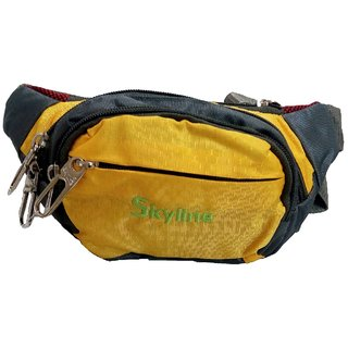 Skyline Unisex Yellow Waist Pouch-With Warranty-1601