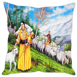 Fairshopping Cushion Cover People Poster  (PMCCWF0269)
