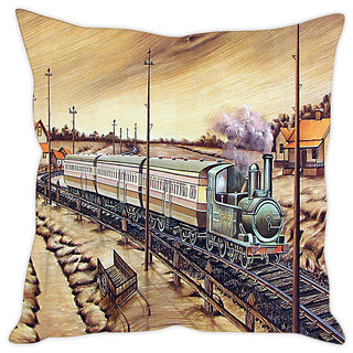 Fairshopping Cushion Cover Train Pic  (PMCCWF0278)