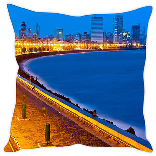 Fairshopping Cushion Cover City  Samadar  (PMCCWF0487)