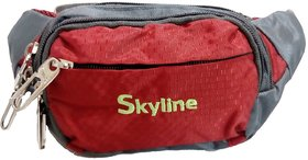Skyline Unisex Red Waist Pouch-With Warranty-1601