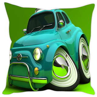 Fairshopping Cushion Cover Green Car Pic  (PMCCWF0524)