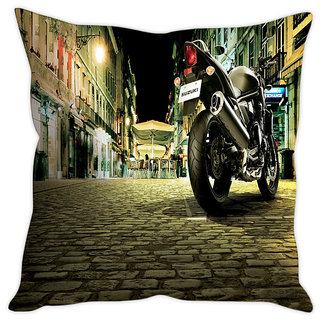 Fairshopping Cushion Cover Blue Fast Car  (PMCCWF0760)