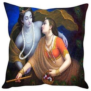 Fairshopping Cushion Cover Rajasthani Doll  (PMCCWF0566)