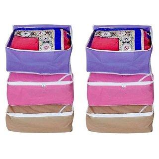 Fashion Bizz Regular Multi Saree Covers Bag (6-Pcs Combo)